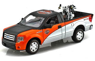 FORD F150 STX + HARLEY FAT BOY 1/24